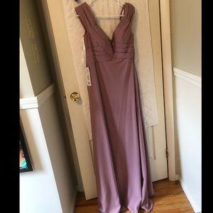 Azazie Vintage Mauve Bridesmaids Dress NWT